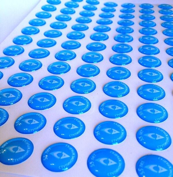 Печать фигурных наклеек в Москве | фото 5