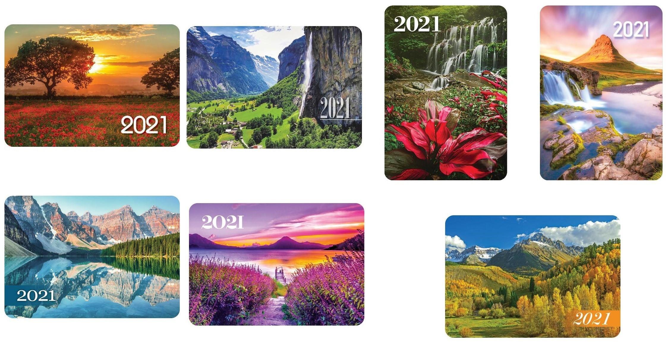Печать карманных календарей 2021