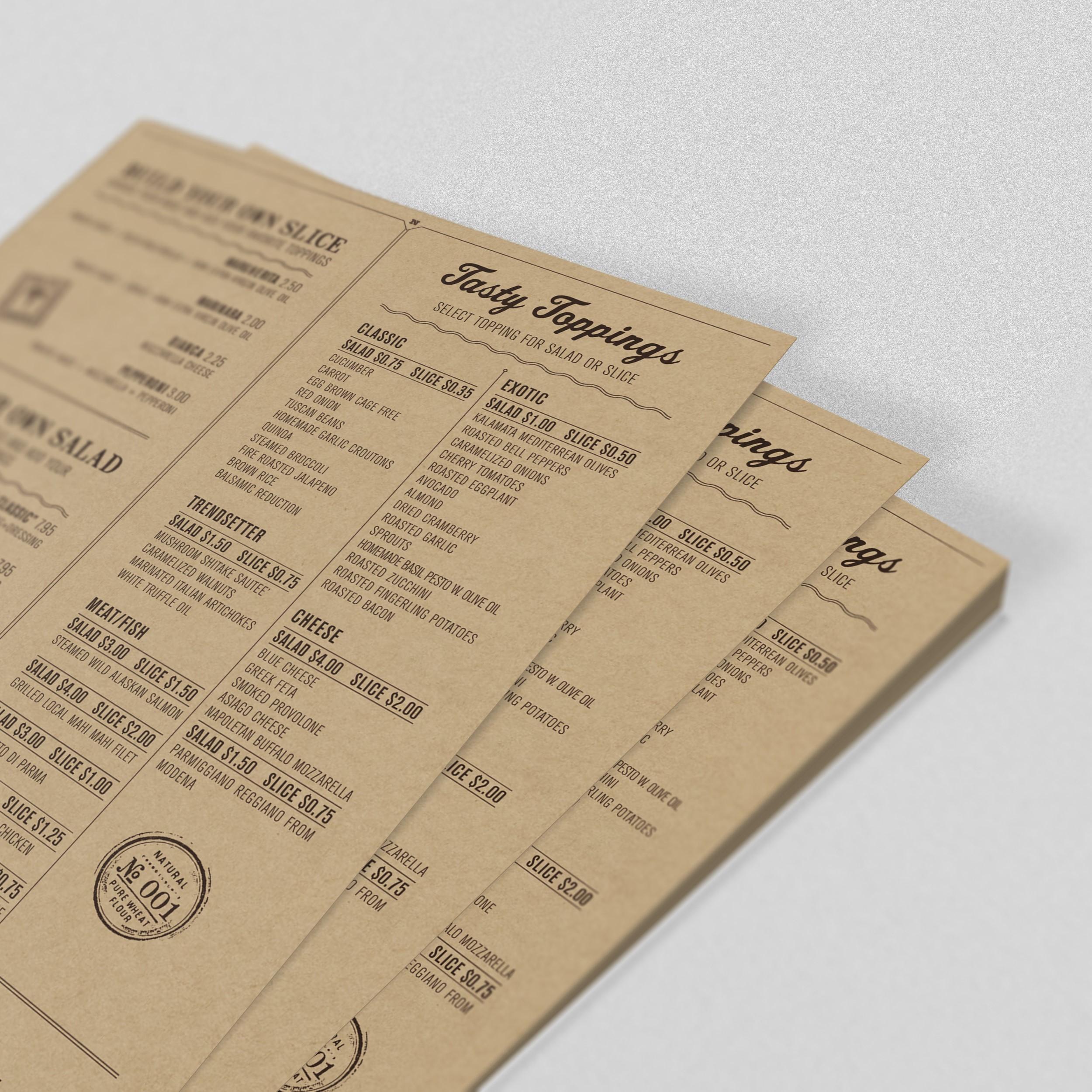 Печать меню на крафт бумаге в Москве | фото 4