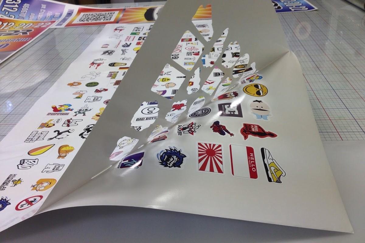 Печать наклеек на пленке в Москве   фото 2