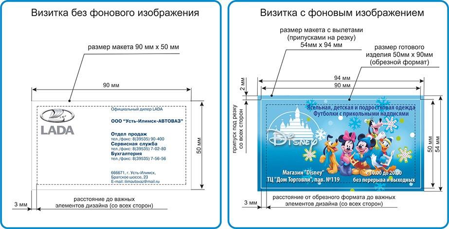 Технологические требования к макетам в Москве | фото 7