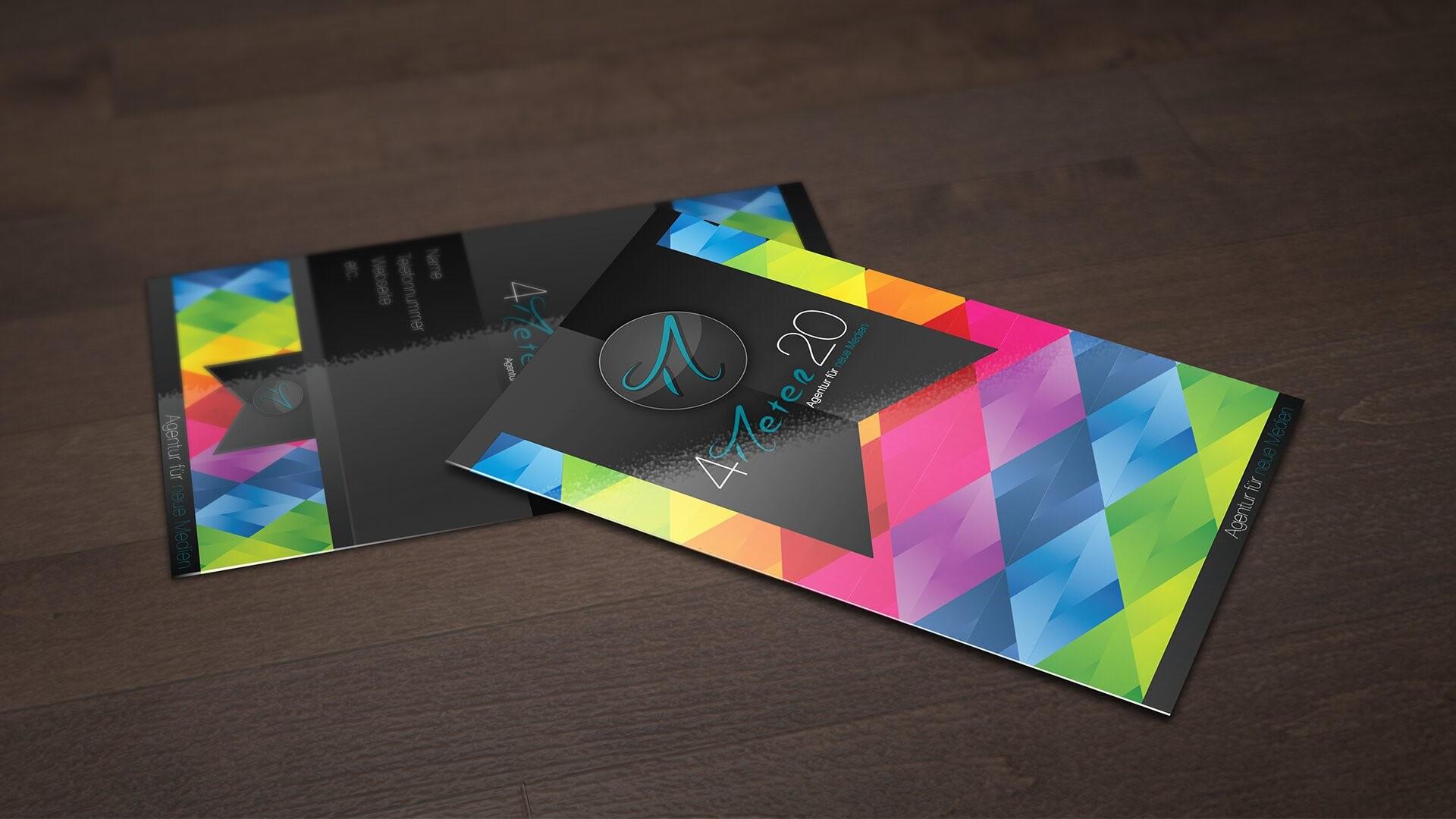 Цветные визитки в Москве | фото 1