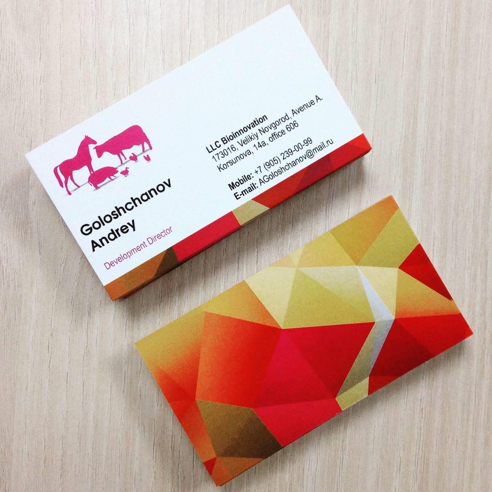 Цветные визитки в Москве | фото 6