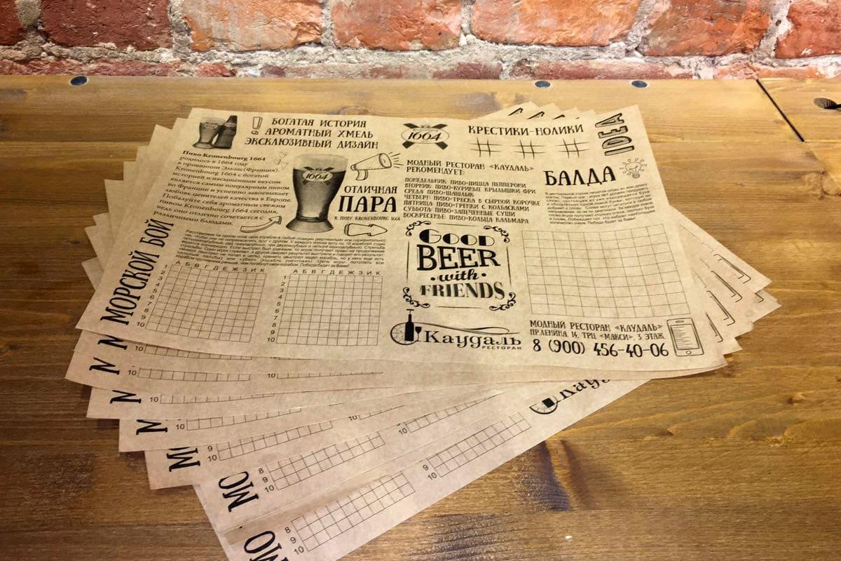 Печать меню плейсмет на подносы в Москве | фото 2