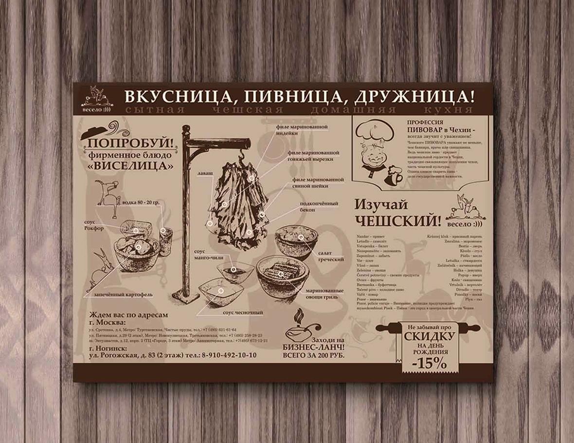 Печать меню плейсмет на подносы в Москве | фото 1