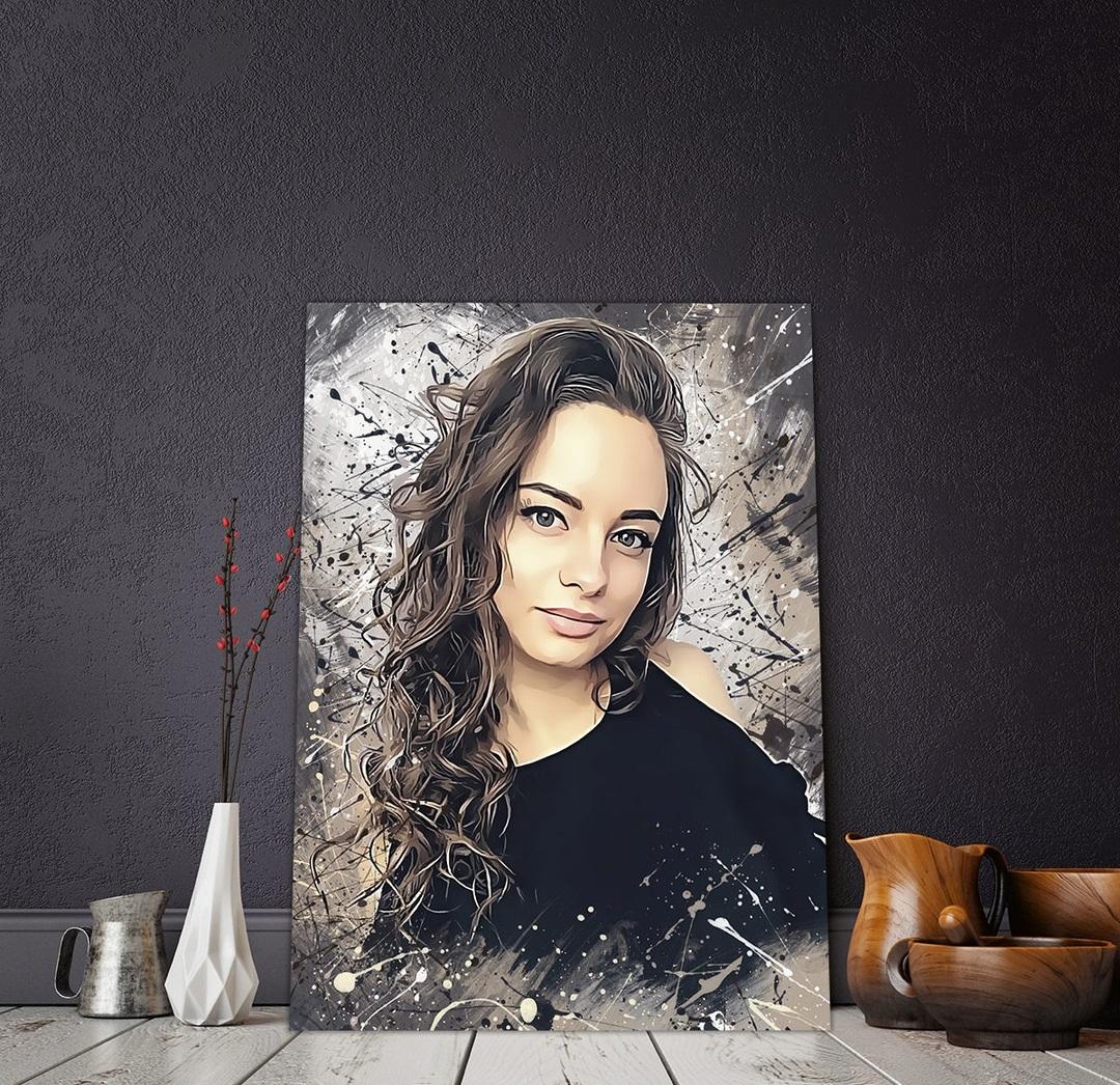 Печать на холсте портретов