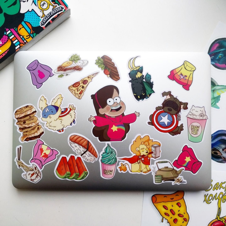 Печать наклеек и стикеров на ноутбук в Москве | фото 6