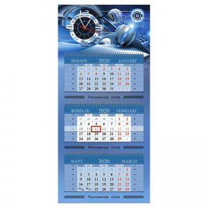 Изготовление квартальных календарей миди