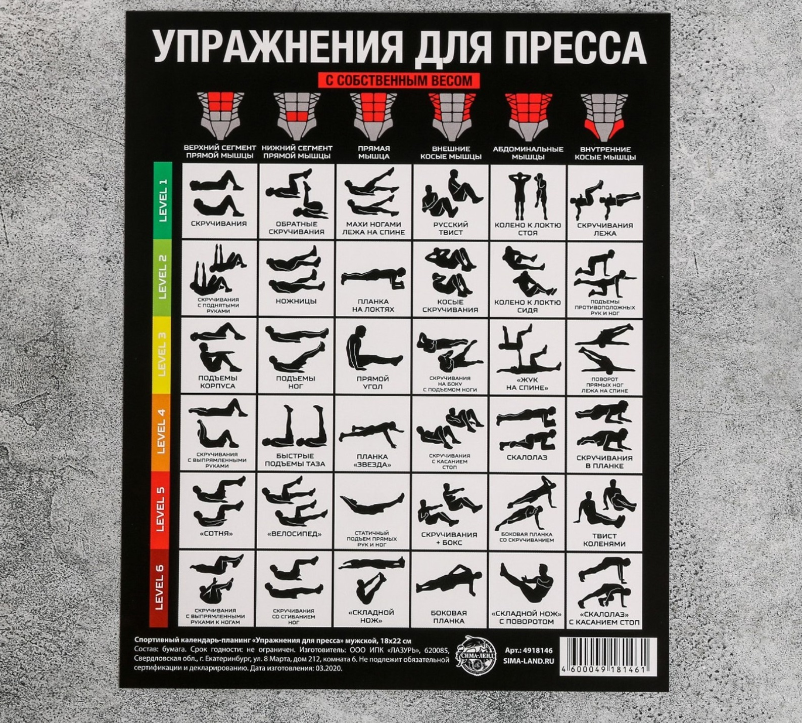 Изготовление спортивных календарей-планингов в Москве | фото 6
