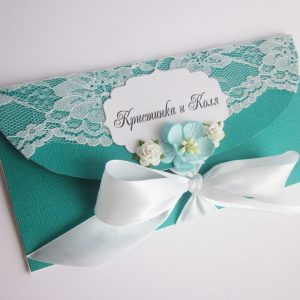 Изготовление свадебного конверта для денег