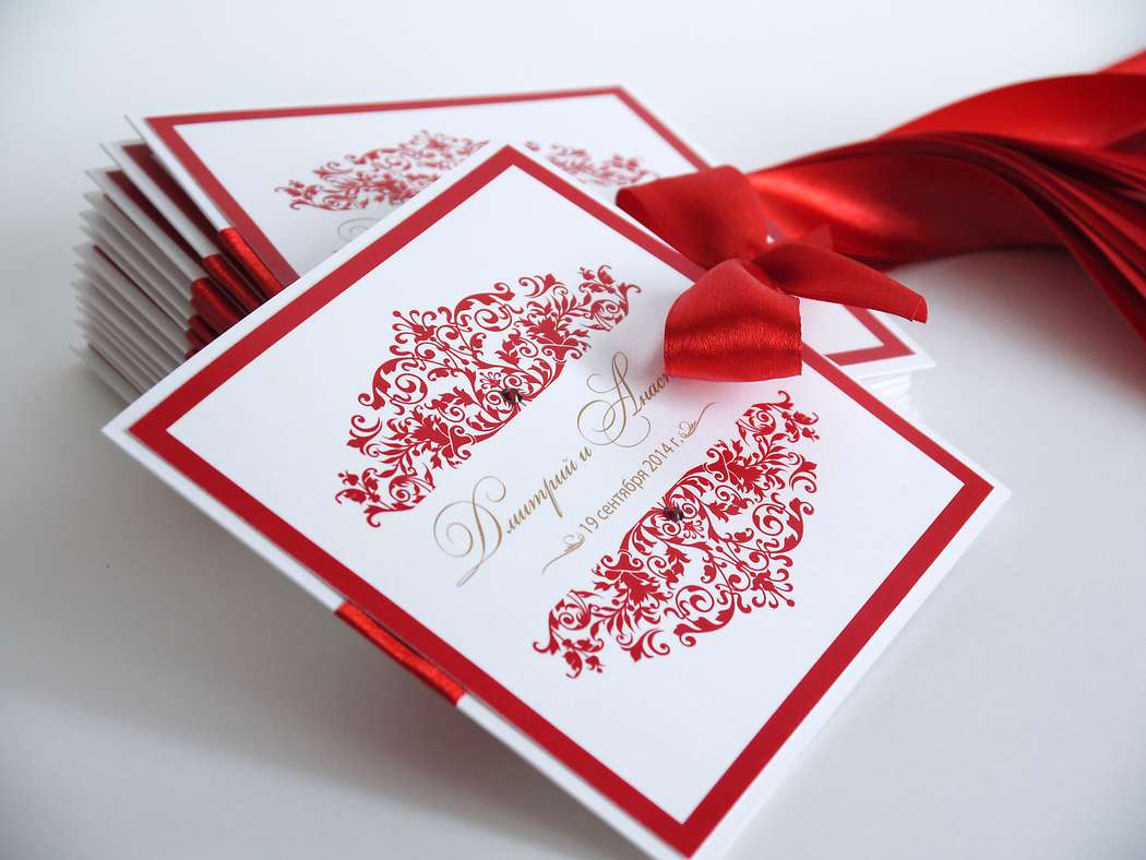 Печать эксклюзивных приглашений на свадьбу в типографии