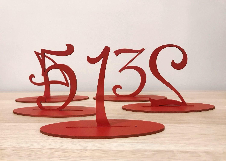 Печать нумерации столов для свадьбы в Москве | фото 4