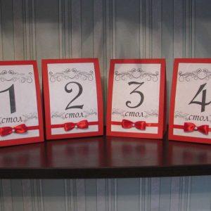 Печать нумерации столов для свадьбы