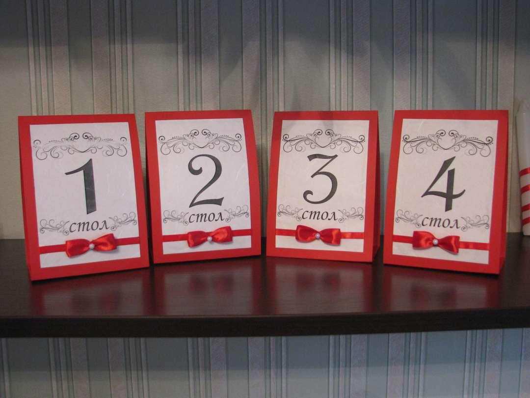 Печать нумерации столов для свадьбы в Москве | фото 1