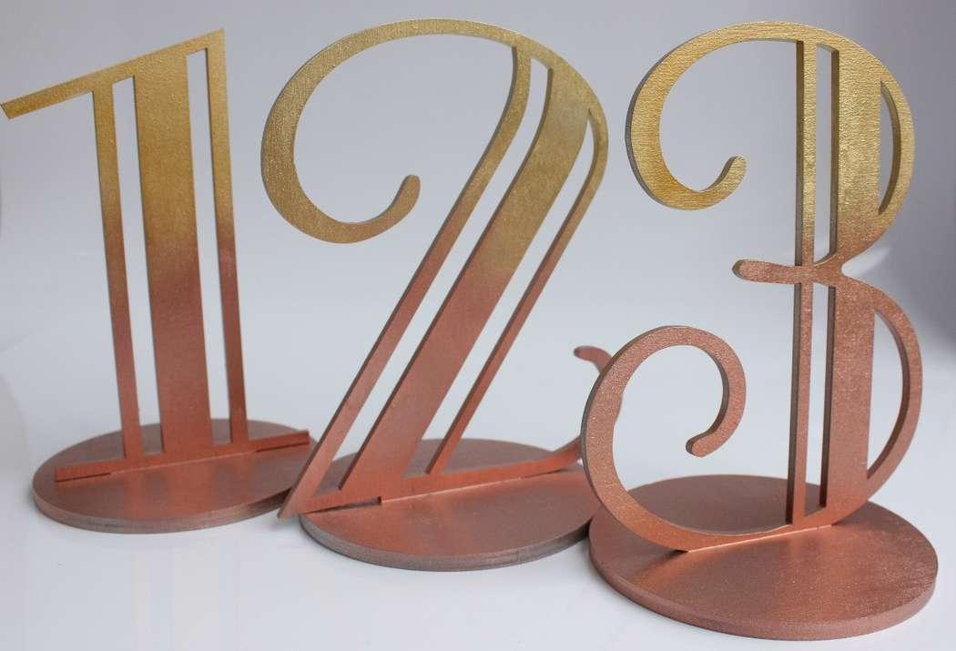 Печать нумерации столов для свадьбы в Москве | фото 5