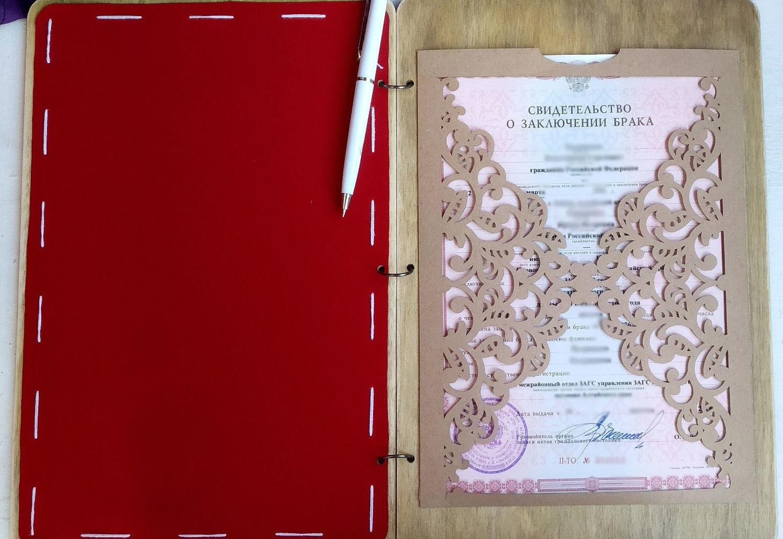 Печать папки для свидетельства регистрации брака в Москве | фото 4