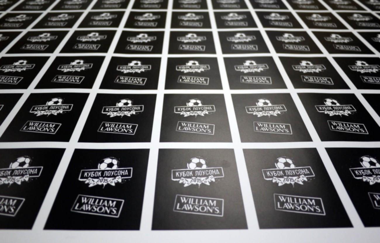 Печать прямоугольных наклеек