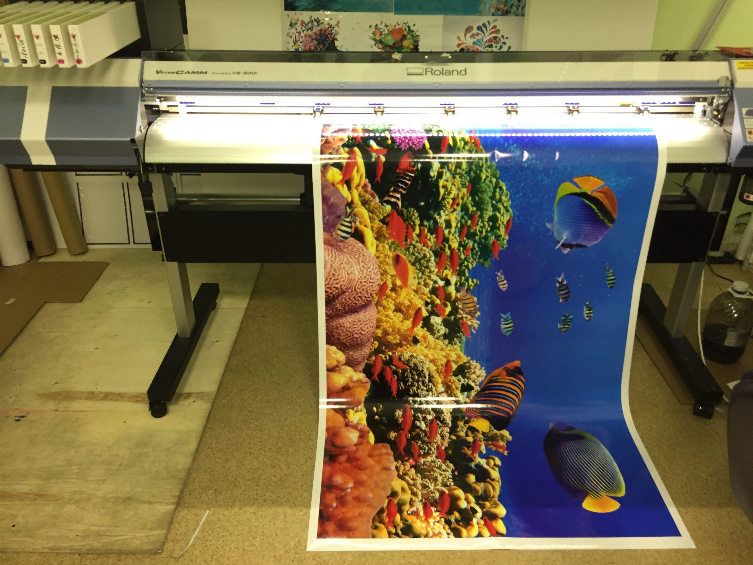 Печать широкоформатных наклеек в Москве | фото 2