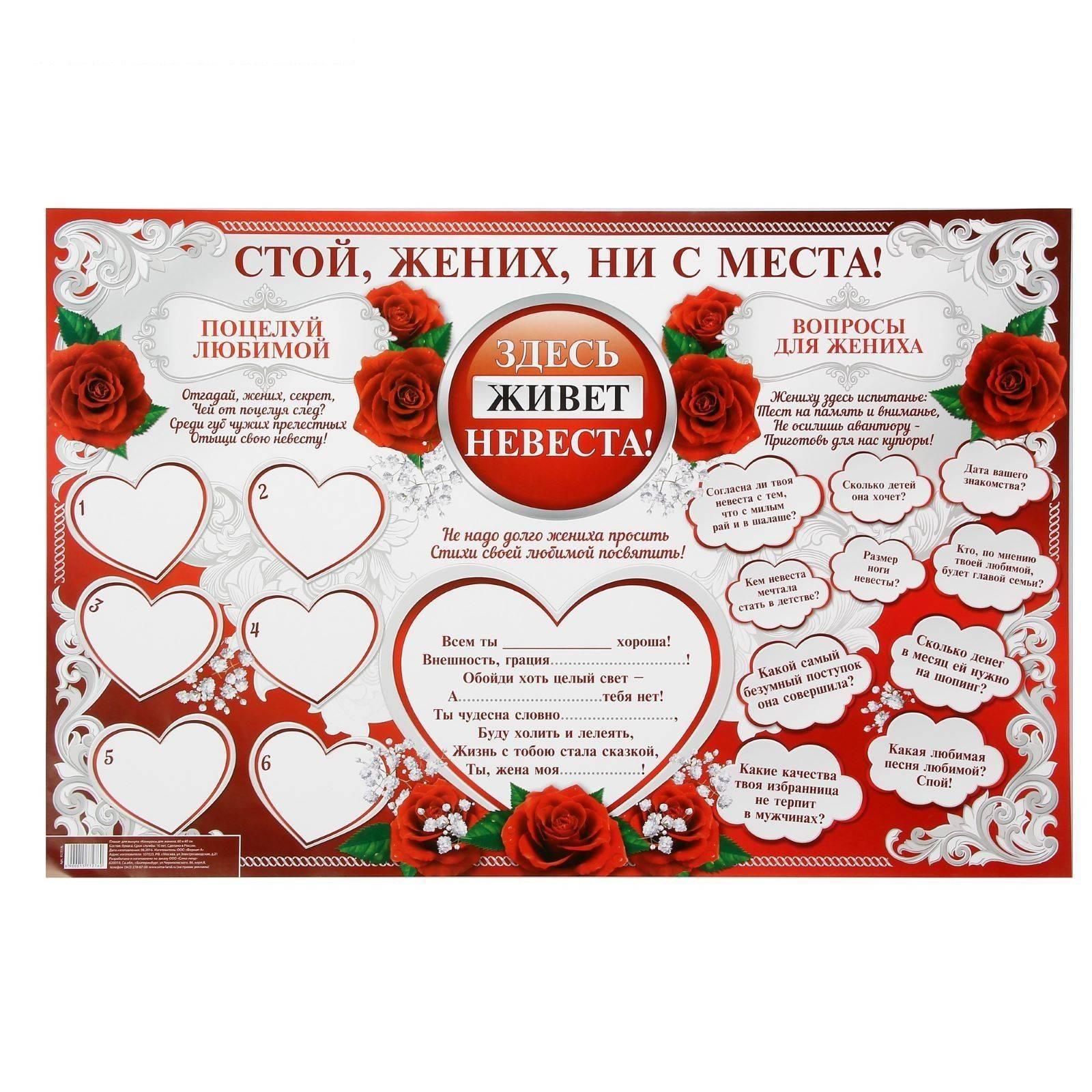 Печать свадебных плакатов и постеров в tprint