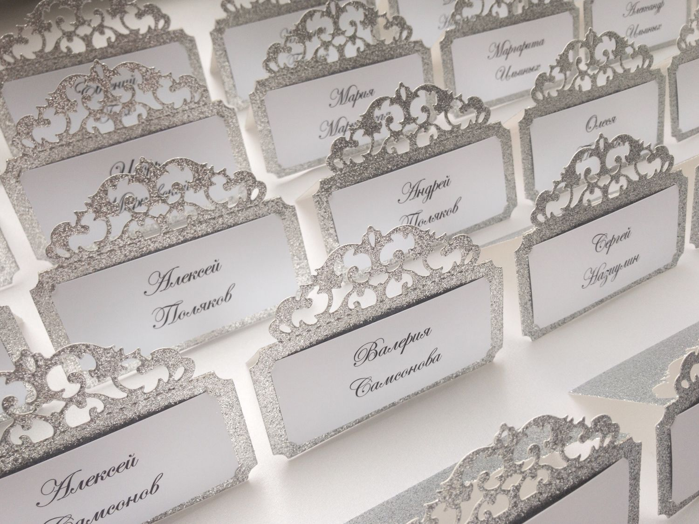 Изготовление рассадочных банкетных карточек для свадьбы в Москве | фото 3