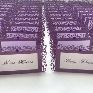 Изготовление рассадочных банкетных карточек для свадьбы