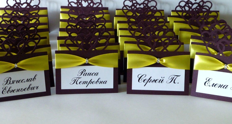 Изготовление рассадочных банкетных карточек для свадьбы в Москве | фото 7