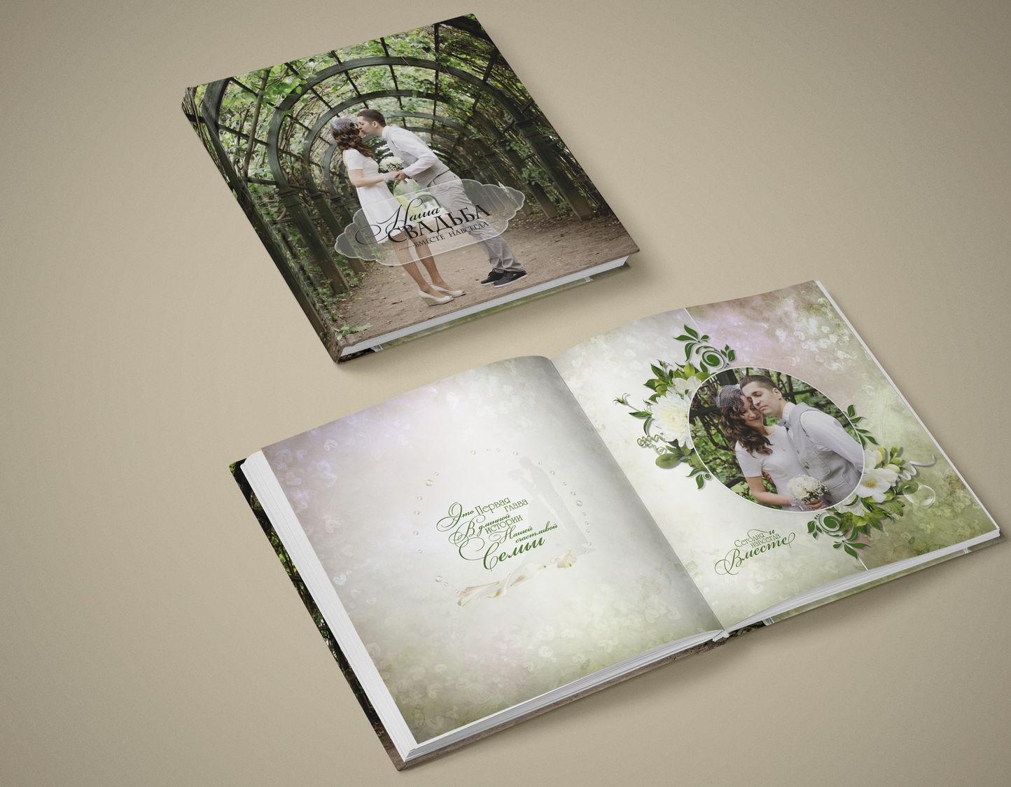 Изготовление свадебных фотоальбомов и фотокниг недорого