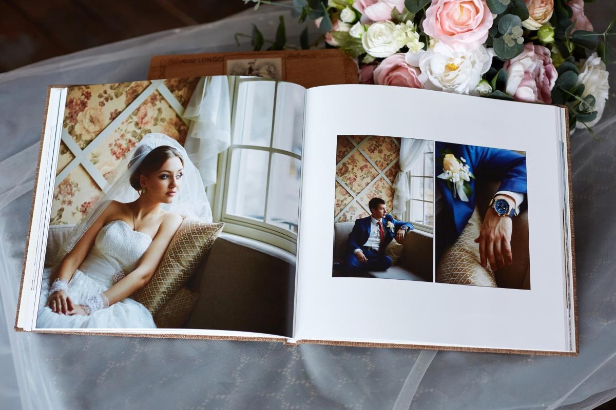 Изготовление свадебных фотоальбомов и фотокниг в tprint