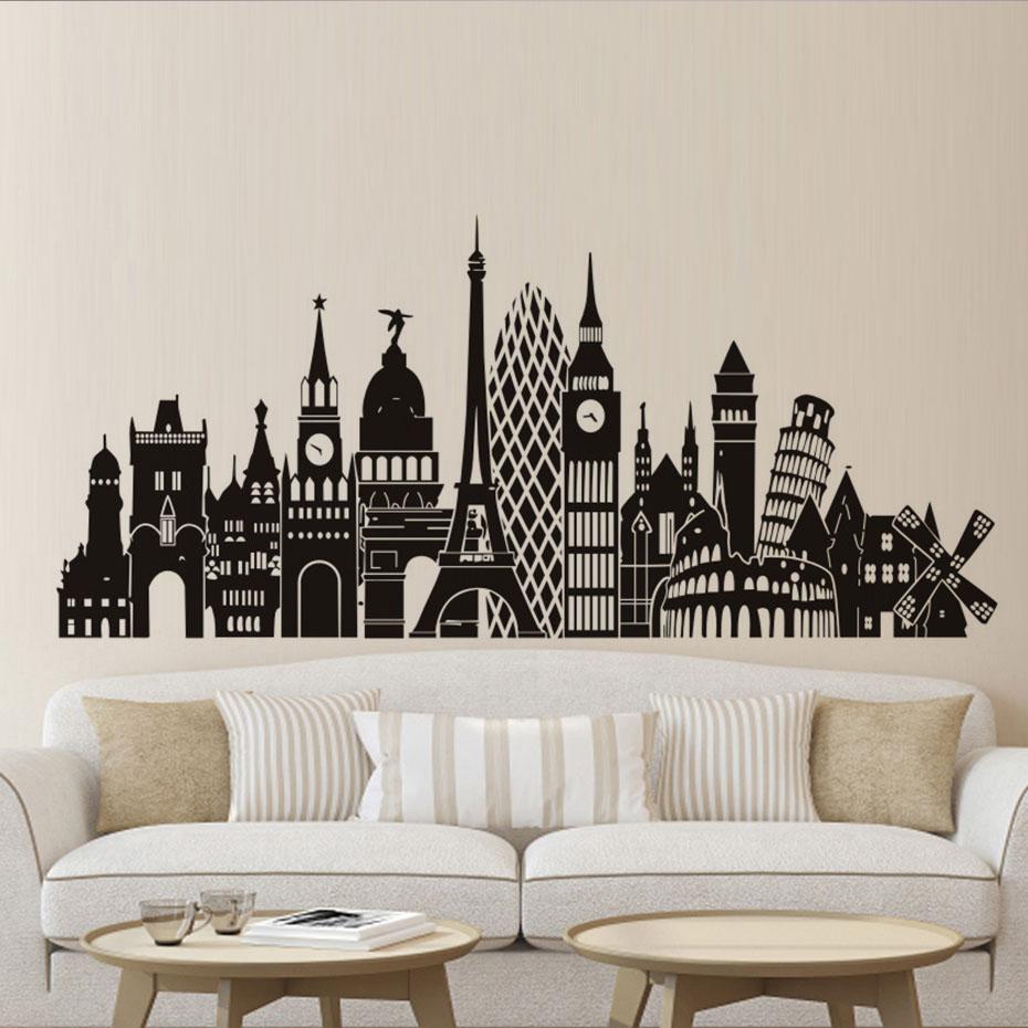 Печать интерьерных наклеек город в Москве | фото 8