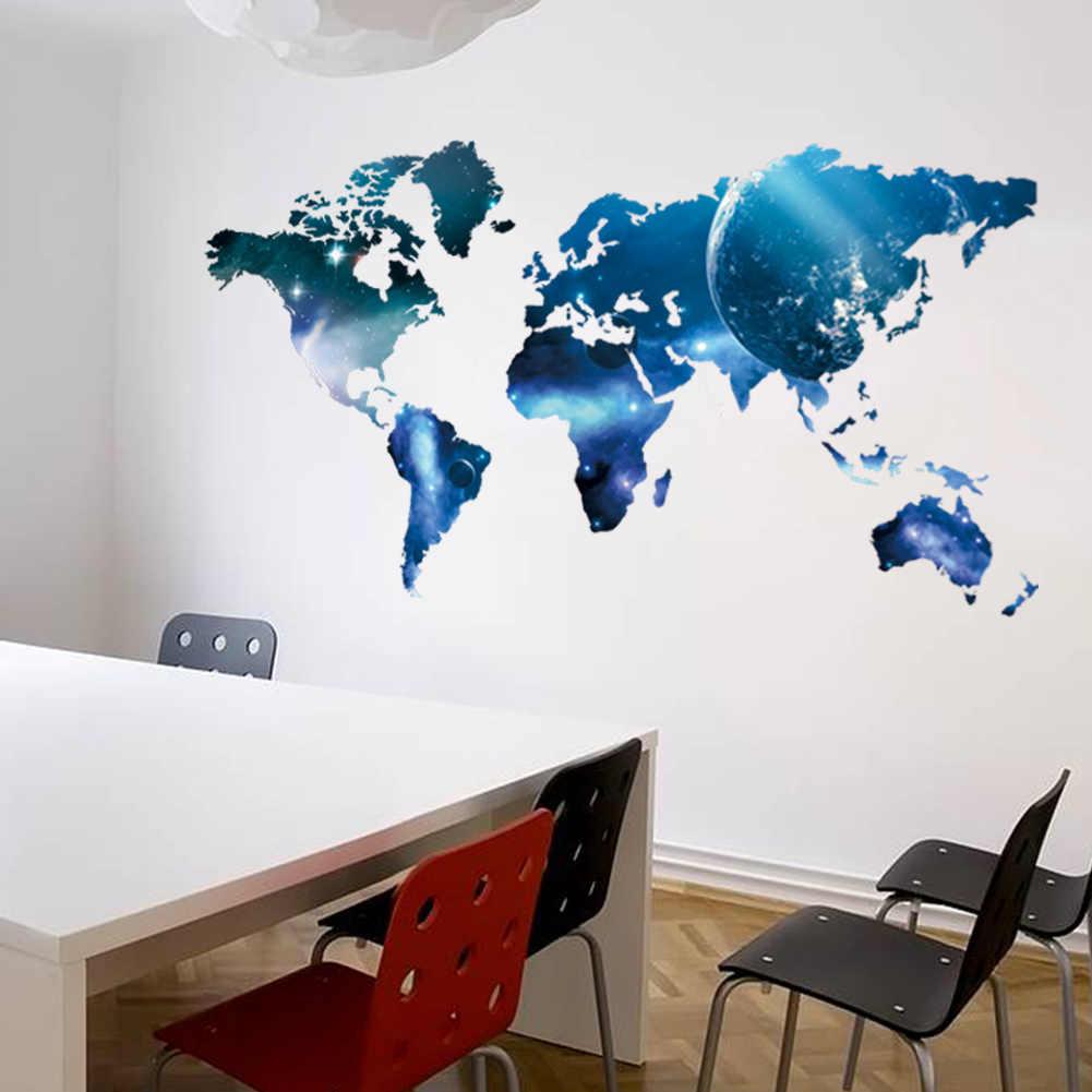 Печать интерьерных наклеек карта мира в Москве | фото 8