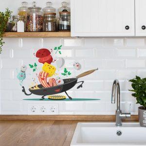 Печать интерьерных наклеек на кухню