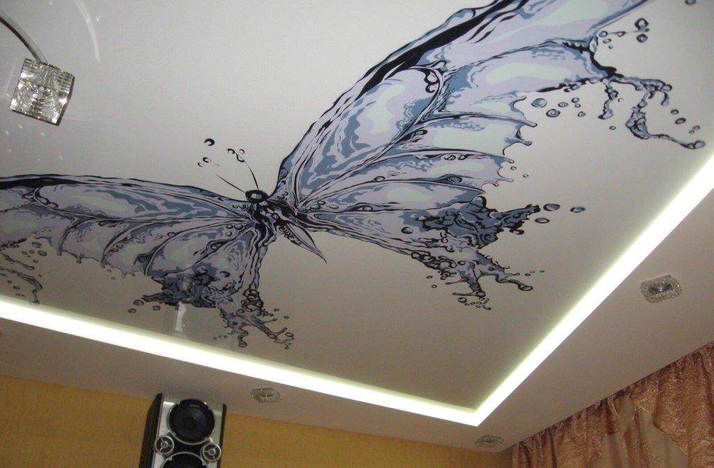 Печать интерьерных наклеек на потолок в Москве | фото 3