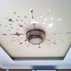 Печать интерьерных наклеек на потолок