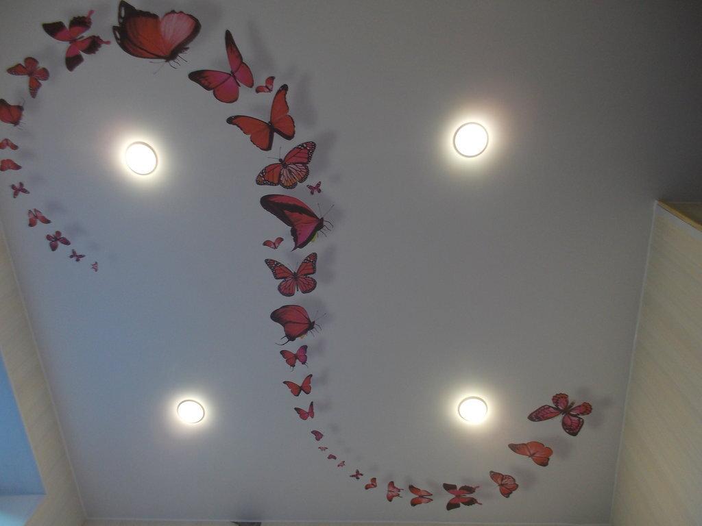 Печать интерьерных наклеек на потолок в Москве | фото 8