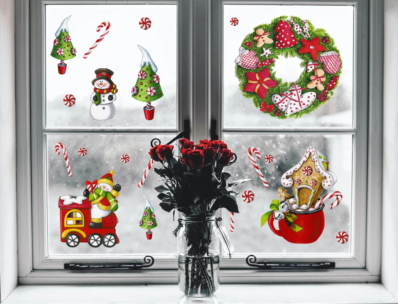 Печать интерьерных наклеек окно в Москве   фото 4