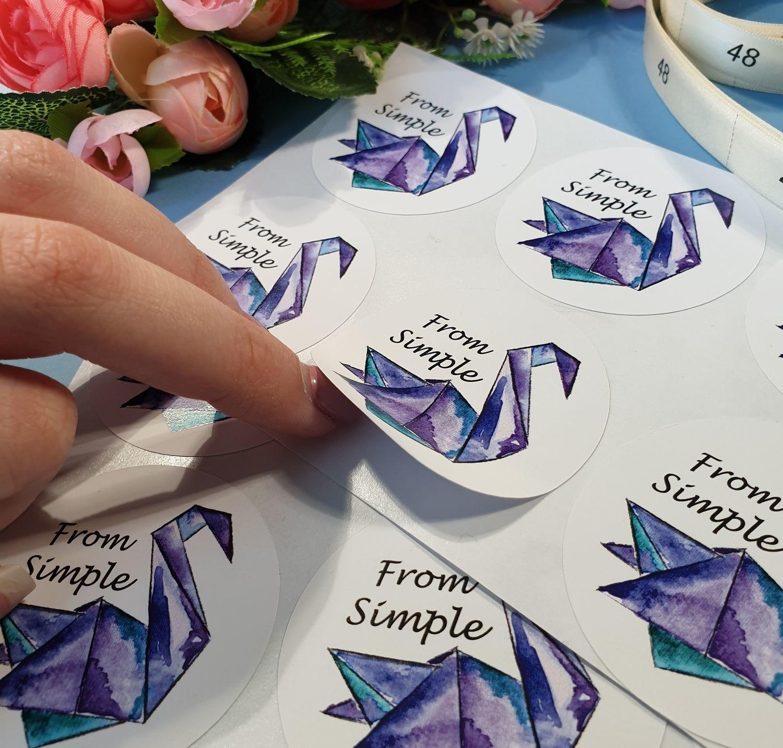 Печать наклеек с логотипом в Москве | фото 5