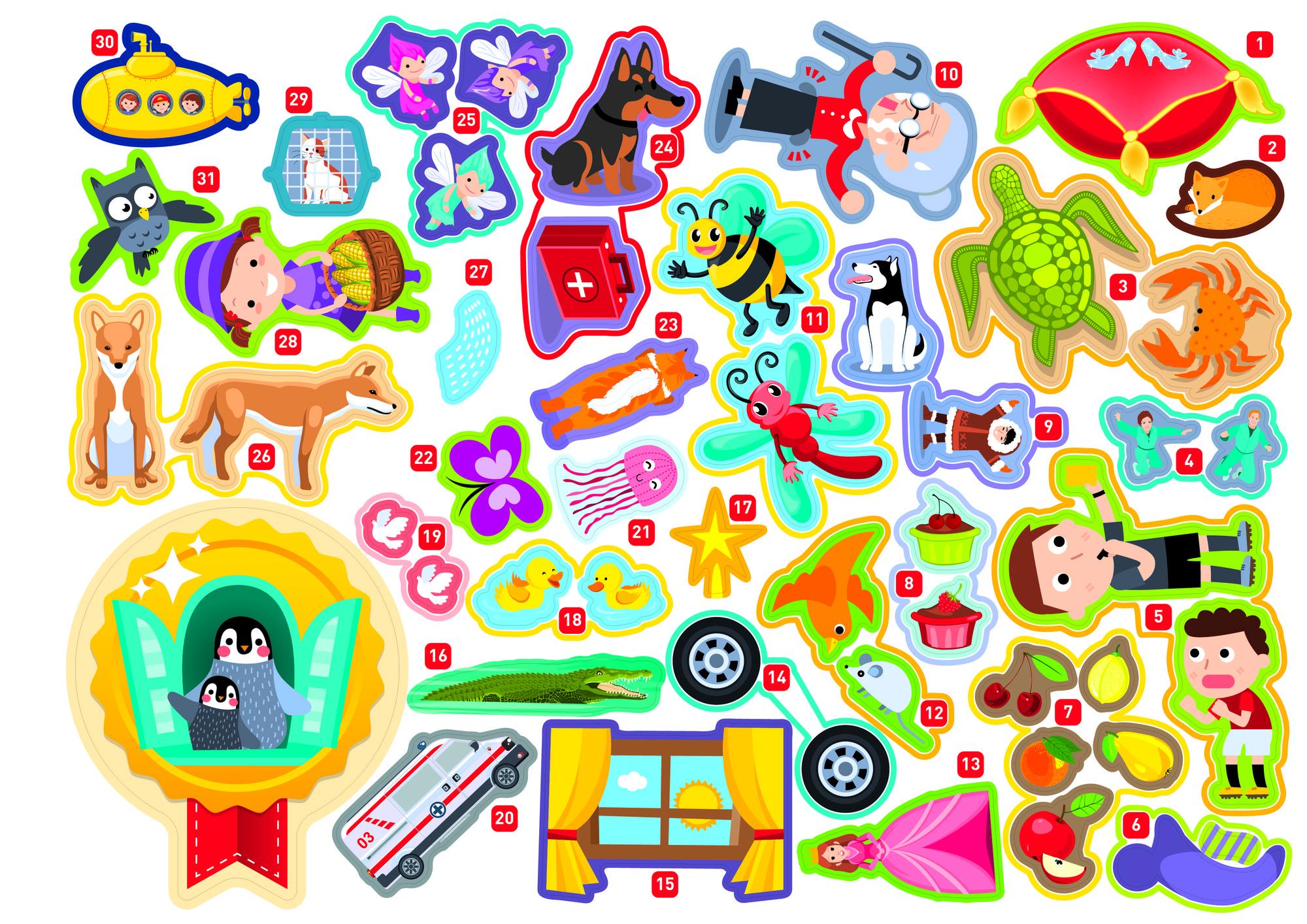 Печать детских наклеек в Москве | фото 5