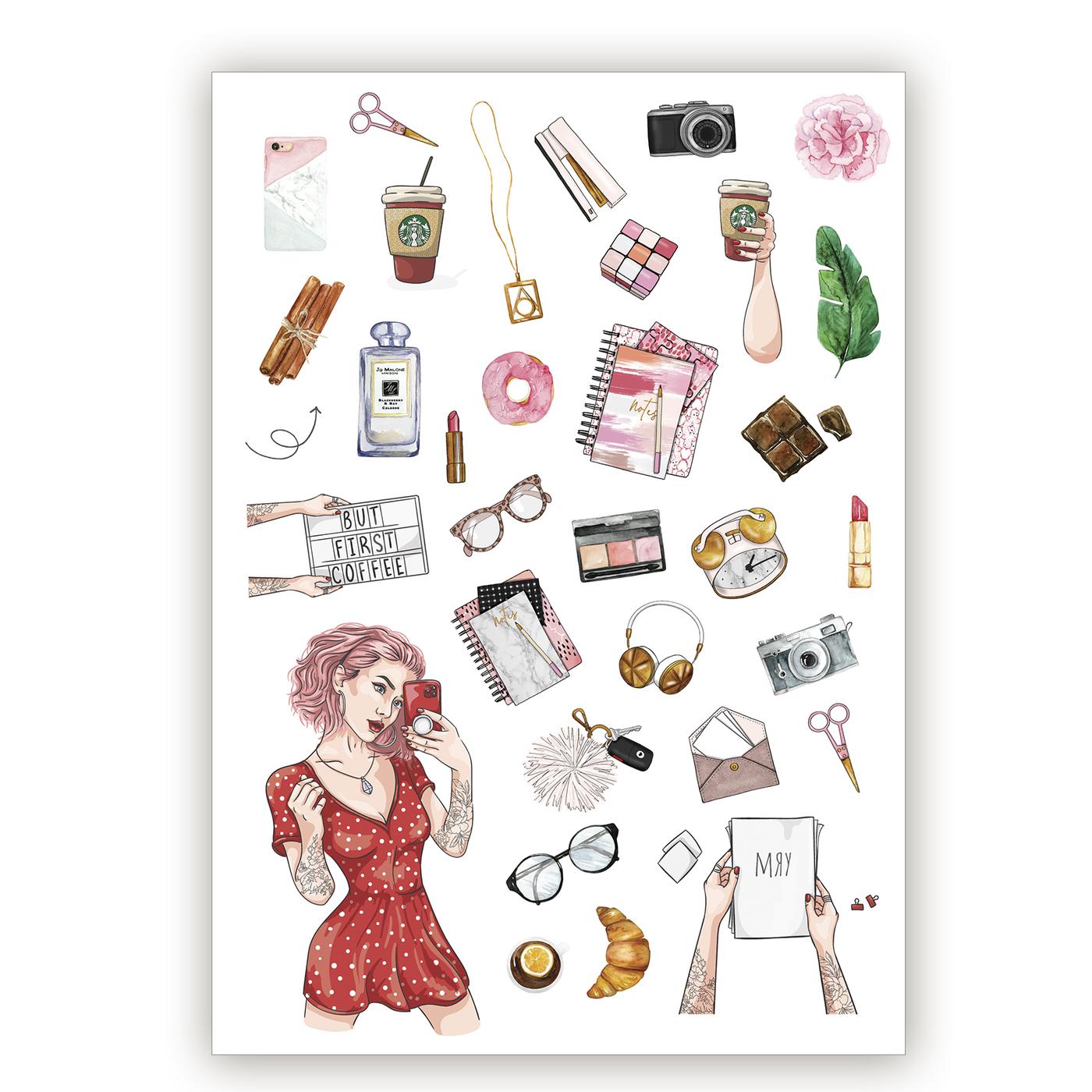Печать наклеек для ежедневника в Москве | фото 4