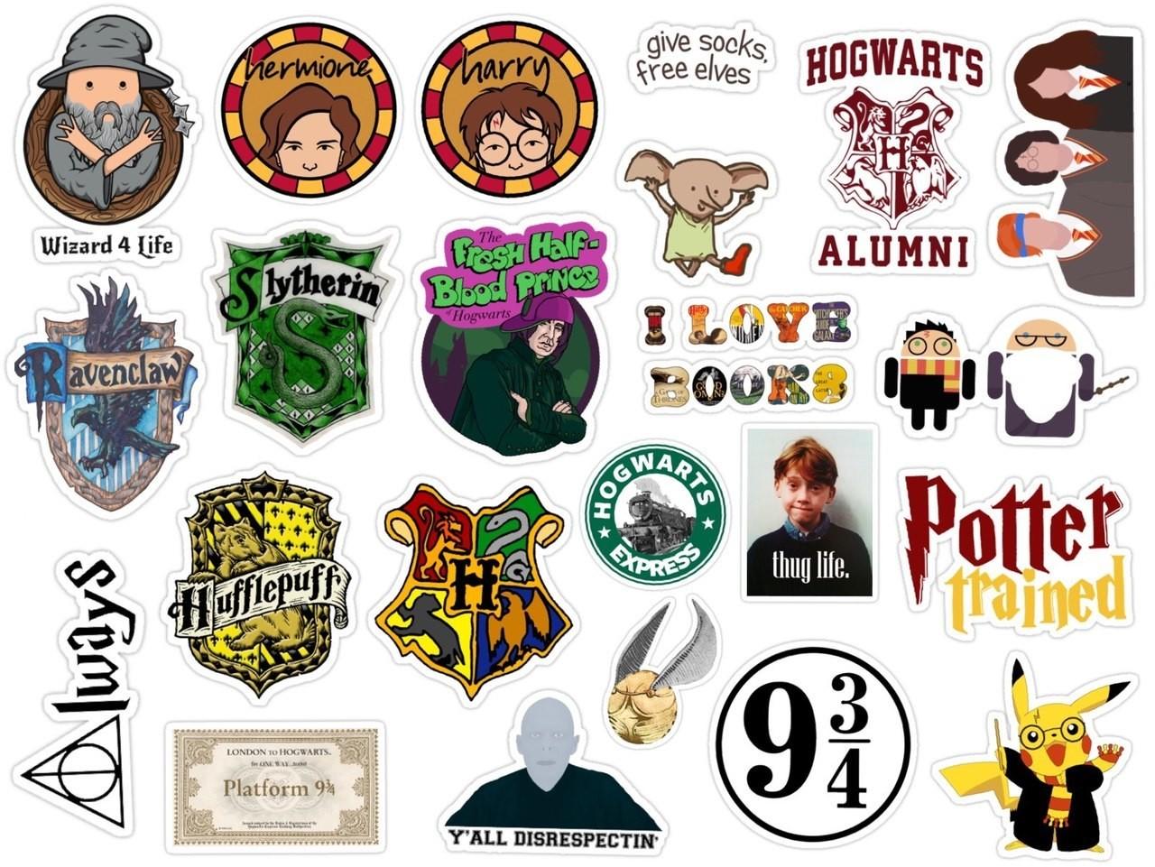 Печать наклеек Гарри Поттер в Москве | фото 6