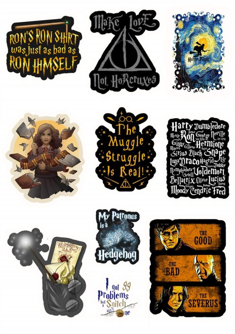 Печать наклеек Гарри Поттер в Москве | фото 8