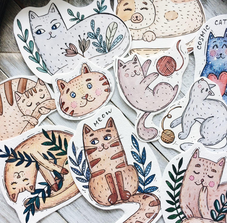 Печать наклеек котиков в Москве | фото 2