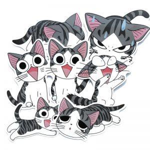 Печать наклеек котиков
