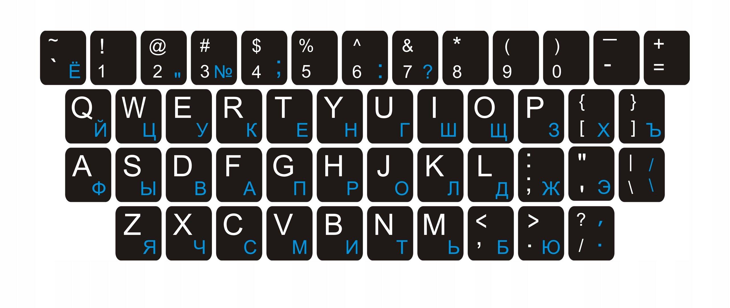 Печать наклеек на клавиатуру в Москве   фото 3