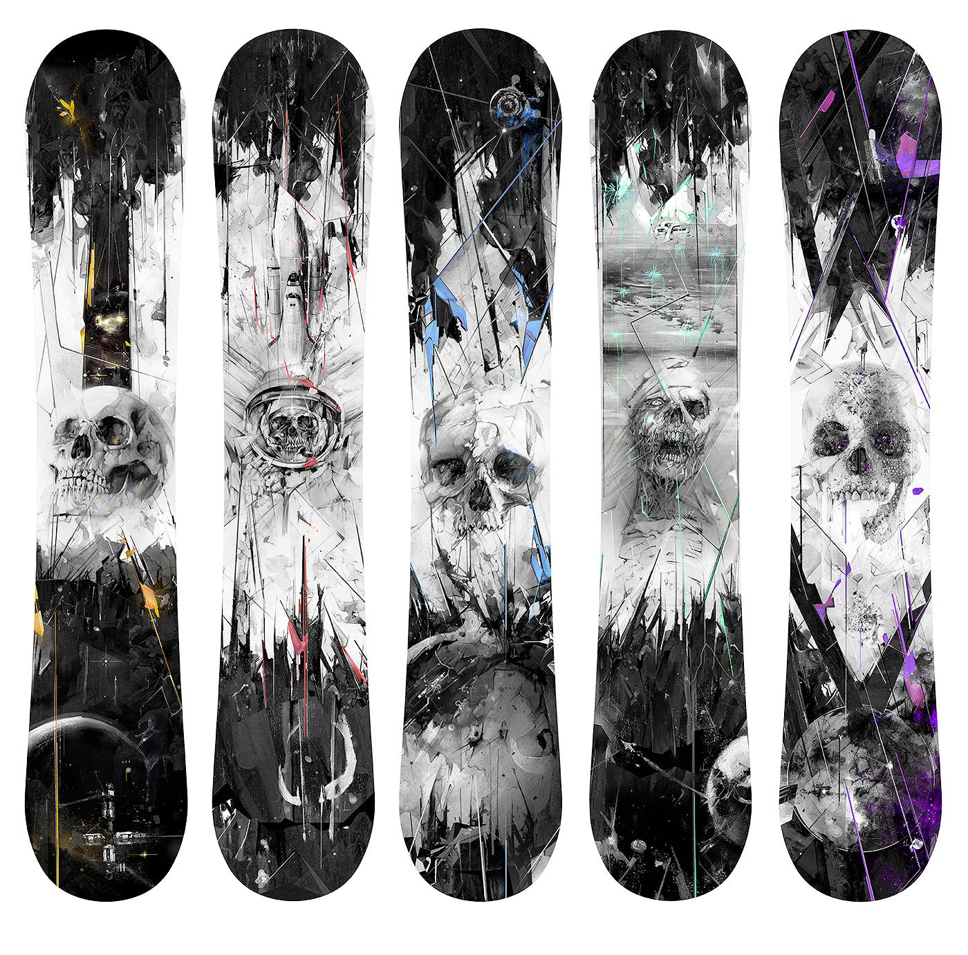 Печать наклеек на сноуборд в Москве | фото 2
