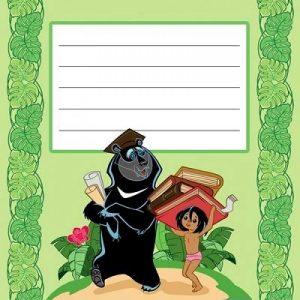 Печать наклеек на тетрадь